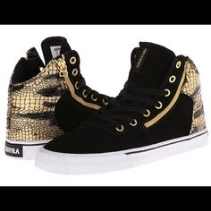 84c72f9a2dc3    ISO - Supra Hi Top Black Gold Sneakers Sz Looking to buy a pair of these  Supras in a size Supra Shoes Sneakers