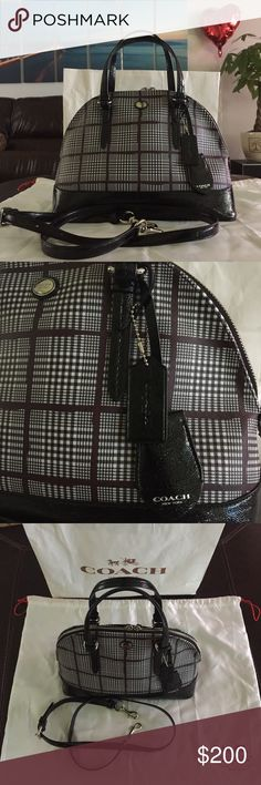 Coach Purse Still has tags on it originally sold for $350 Has pockets inside and out Shoulder strap and dust bag included Coach Bags Shoulder Bags