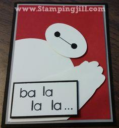 Baymax www.stampingjill.com Stampin' Up! Big Hero 6 Birthday Invitation
