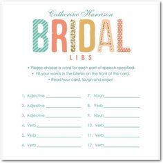 Bridal Bash - Signature White Bridal Shower Games - Nancy Kubo - Cashmere Pink…