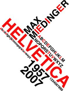 A collection/showcase of 20 piping hot and beautiful Helvetica based print posters, showing off the stunning characteristics of the old, yet modern typeface. Poster Fonts, Type Posters, Typographic Poster, Graphic Design Posters, Typography Love, Creative Typography, Max Miedinger, Modern Typeface, Booklet Design