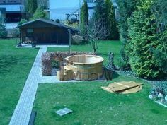 Björn, Arnsberg, Deutschland - Hot Tub Backyard, Garden Landscaping, Landscaping Ideas, Landscape Plans, Jacuzzi, Garden Planning, Hot Tubs, Fire, Outdoor Decor