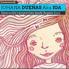 Ilustración. Viajera de JOHANA DUEÑAS Aka Ioa. Ilustración compartida desde Bogotá (COLOMBIA).  Leer más: http://www.colectivobicicleta.com/2013/04/Ilustracion-de-JOHANA-DUENAS.html#ixzz2RCjX44te