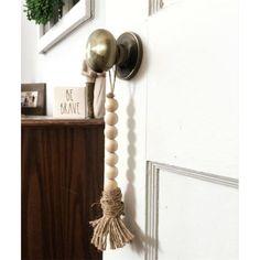 Wood Bead Garland, Beaded Garland, Sisal, Nursery Room Decor, Farmhouse Style Decorating, Farmhouse Decor, Beading Tutorials, How To Make Beads, Hobbies And Crafts