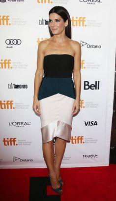 Sandra Bullock in Narciso Rodriguez at the Toronto International Film Festival