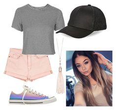"""""""Outfit 43"""" by kayla-mae-hopkins on Polyvore featuring Current/Elliott, Topshop, BCBGeneration, Converse and Oasis"""