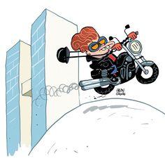 Dilma driblou seguranças e saiu de moto pelas ruas de Brasília, diz ministro. E ela nem tem carteira para tal...kkkkkkk
