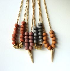 Etsy pick a color beaded necklace; $24