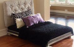 Luxury Dog Bed for the Pampered Pup - Covered Headboard, Mattress, Pillows andBlanket - Pet Shopping Blog for Modern Pet Owners - CoolPetPr...