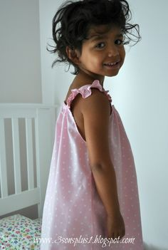 CELEBRATE!: Tutorial for How to Make a Little Girl's Summer Nightgown