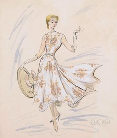 A costume design by the wonderful Edith Head for Grace Kelly's character from the Hitchcock movie Rear Window.