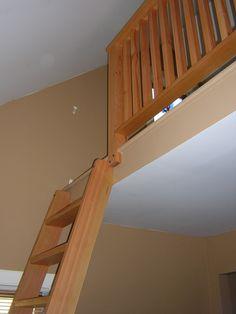 Loft Ladder and Railing
