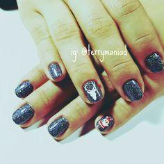 #naildesign #handpainted #nailart #summernails #spacenails #chromenails #mirrornails #christmasnails