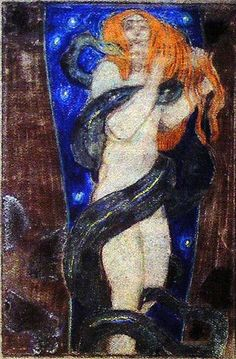 486dd533585d47a749a4f43b11d1123b.jpg (419×638)  .. Josef Maria Auchentaller (1865-1949)
