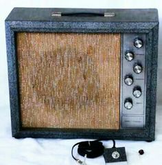 "1966 SILVERTONE 1482 by Danelctro. 12 Watt ""TV Face"" combo w/ tremolo. Silvertone 1400 series had all RCA TUBES. The preamp has two 12AX7, SS rectifier, 5AU7 deep tremolo into two 6V6 power tubes. Similar tone to the 5E3 DELUXE Tweed & JENSEN C12R. Run to external cab or do 5F2-A Mod."