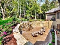 Aspen Ridge I walk out/walk up patio with water and fire feature