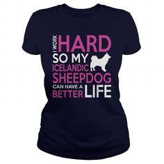 Icelandic Sheepdog T Shirts, Hoodies. Get it now ==► https://www.sunfrog.com/LifeStyle/Icelandic-Sheepdog-128233282-Navy-Blue-Ladies.html?57074 $23