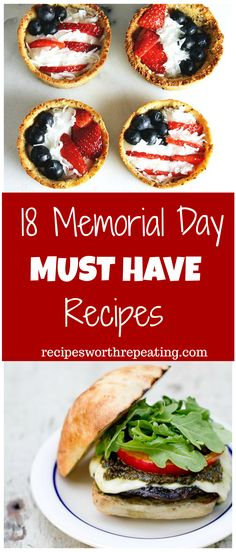 18 mouthwatering recipes right here for your Memorial Day Weekend celebrations regardless of what your plans are! Burgers, mac and cheese, ribs, shrimp, ice cream...I've got you covered in this roundup! #memorialday #BBQ #grill #sides #sweets #icecream #summer #picnic | recipesworthrepeating.com