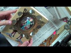 Shadow box tutorial...using jewelry gift box and collage.