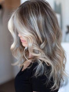 New Hair Color Trends, New Hair Colors, Cool Hair Color, Brown Hair Colors, Hair Color Balayage, Ombre Hair, Cool Blonde Balayage, Blonde Highlights, Gray Hair