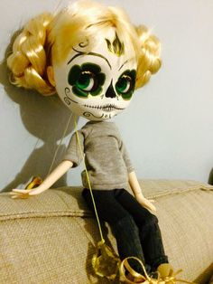 Calavera blythe custom by me jolly Roger dolls