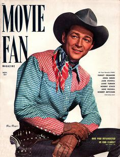 Roy Rogers strikes a casual pose on this November 1950 issue of Movie Fan magazine.