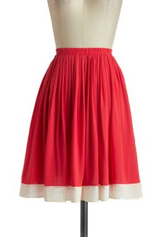 Poppy on By Skirt, #ModCloth