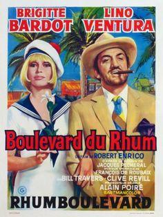 """1971, """"Boulevard du Rhum"""", de Robert ENRICO, avec Lino VENTURA, entre autres, film relatant de la prohibition, donc contrebande, du rhum. (affiche et photos du film)"""