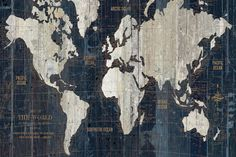 Old World Map Blue by Wild Apple Portfolio is printed with premium inks for brilliant color and then hand-stretched over museum quality stretcher bars. 60-Day Money Back Guarantee AND Free Return Shipping.