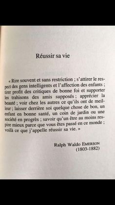 Succeed in life Ralph Waldo Emerson, Words Quotes, Life Quotes, Sayings, Blabla, Motivational Quotes, Inspirational Quotes, French Quotes, Some Words