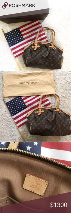 % Authentic Louis Vuitton Tivoli GM purse % Authentic Louis Vuitton Tivoli GM purse, with adjustable straps, excellent condition, comes with dust bag, and also have the box it came in. My fiancé bought this bag for me a few years ago before he left on deployment, since then I have only used it on rare occasions, now I don't use it at all... We are getting married in a few months and would just rather sell and use the money for our wedding!  thanks for reading, let me know if you have any…