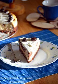 Coffe Cheesecake marmorat cu ciocolata Chocolate Swirl Cheesecake, Chocolate Coffee, Cheesecakes, Gem, Cooking Recipes, Pudding, Baking, Desserts, Food