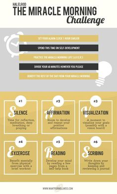 The Miracle Morning infographic - Want for Wellness