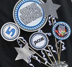 Centro de mesa fiesta de Star Wars | Centro de mesa de cumpleaños Star Wars…