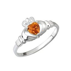 Irish Claddagh Birthstone Ring November Size 8 ** Click on the image for additional details.(This is an Amazon affiliate link and I receive a commission for the sales)