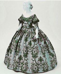 Evening Dress, ca. 1850-1855. Philadelphia Museum of Art