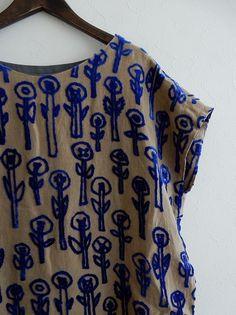 ミナペルホネン mina perhonen day dream パイル刺繍リネンワンピース size38 (27-1706-59)