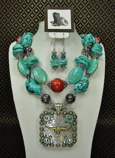 TURQUOISE CHUNKY WESTERN Statement Bold by CayaCowgirlCreations, $58.50