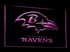 Baltimore Ravens LED Neon Sign - Purple - SafeSpecial