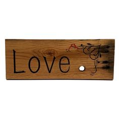 Rustic Wood Sign - Love Birds Carved Wood Signs, Reclaimed Wood Signs, Rustic Wood Signs, Cafe Window, Breast Cancer Walk, Window Graphics, Diabetic Dog, Picture Hangers, Shop Window Displays
