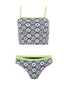 Teens Black Aztec Print Bikini Set | New Look