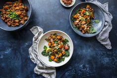 Roasted Sweet Potato Salad With Harissa Chickpeas | Cook Republic | Bloglovin'