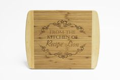 Stamp Out Personalized Cutting Board Giveaway