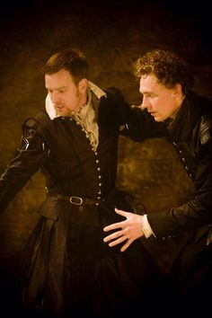Iago and Cassio in Othello. I just finished reading Othello