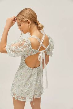 For Love & Lemons Éclair Floral Embroidered Mini Dress | Urban Outfitters Urban Outfitters, Urban Dresses, Women's Dresses, Canada, Party Dresses For Women, I Love Fashion, Summer Collection, Dress For You, 3 D