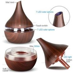 KBAYBO USB Electric Aroma air diffuser wood Ultrasonic air humidifier Essential oil Aromatherapy cool mist maker for home Mist Diffuser, Aroma Diffuser, Aroma Essential Oil, Essential Oil Diffuser, Air Diffusers, Humidifier Essential Oils, Aromatherapy Oils, Cotton Lights