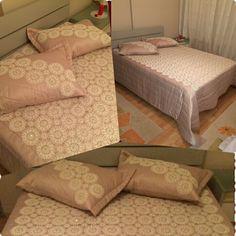 Dantel masa örtülerimizden yatak örtüsü