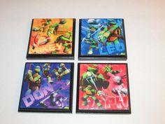 Teenage Mutant Ninja Turtle Room Wall Plaques  Set by JustForYou22, $21.99