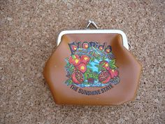 Vintage Florida Souvenir Coin Purse by VintageUrbanAntiques, $5.99