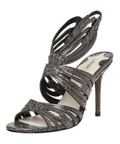I LOVE this shoe!!  Gotta have it!!  Take a look at the Leon Max Charcoal & Copper Saga Leather Sandal on #zulily today!